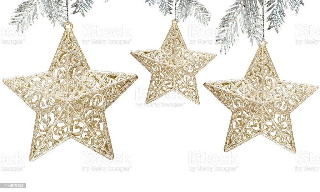 Decoração de estrelas sobre fundo branco foto de stock royalty-free