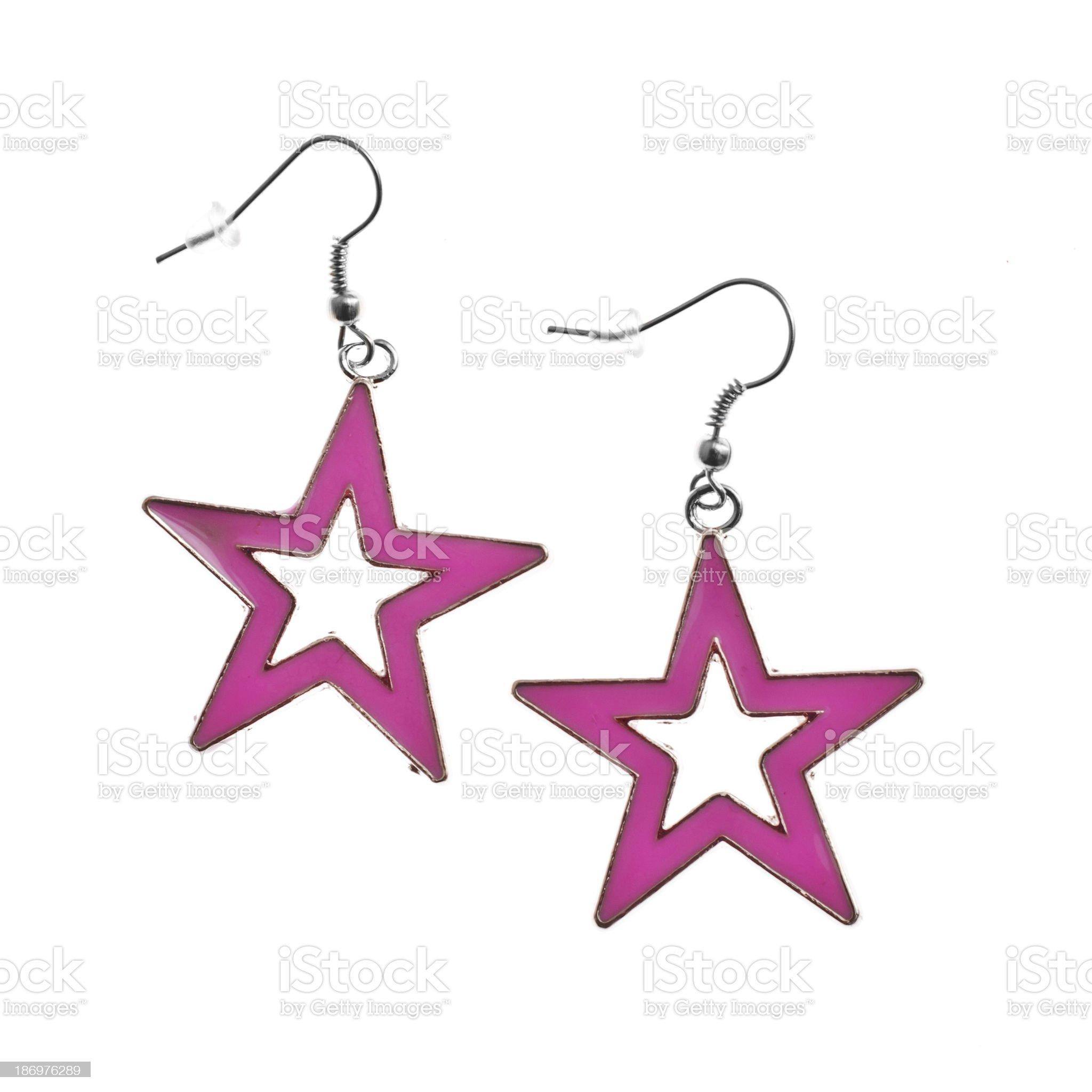 Star Earrings royalty-free stock photo