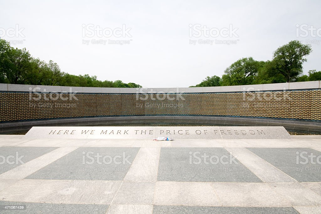 Star Field, National World War II Memorial, Washington DC, USA royalty-free stock photo