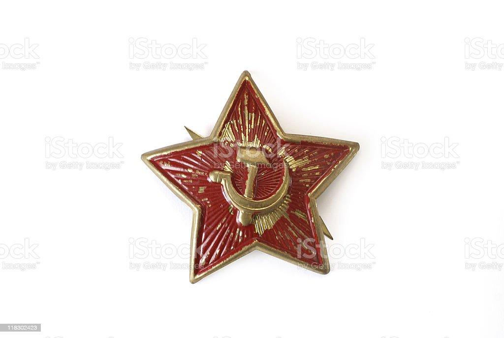 star from old soviet uniform royalty-free stock photo