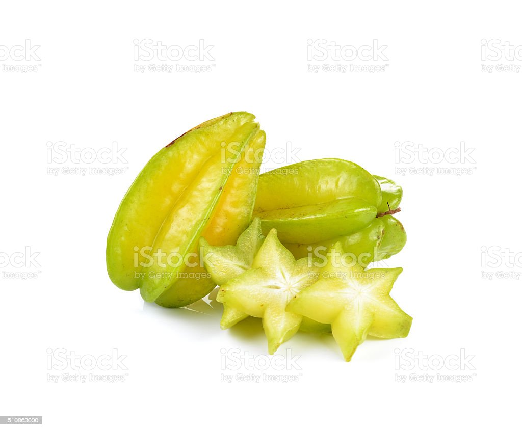 star fruit - carambola  on white background stock photo