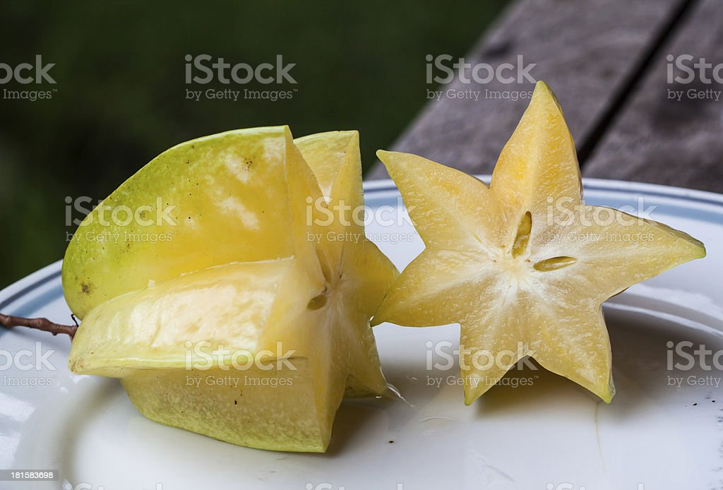 star fruit on dish royalty-free stock photo