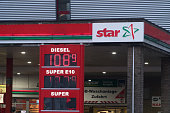 Berlin, Germany - November 15, 2016: Star gas station priceboard
