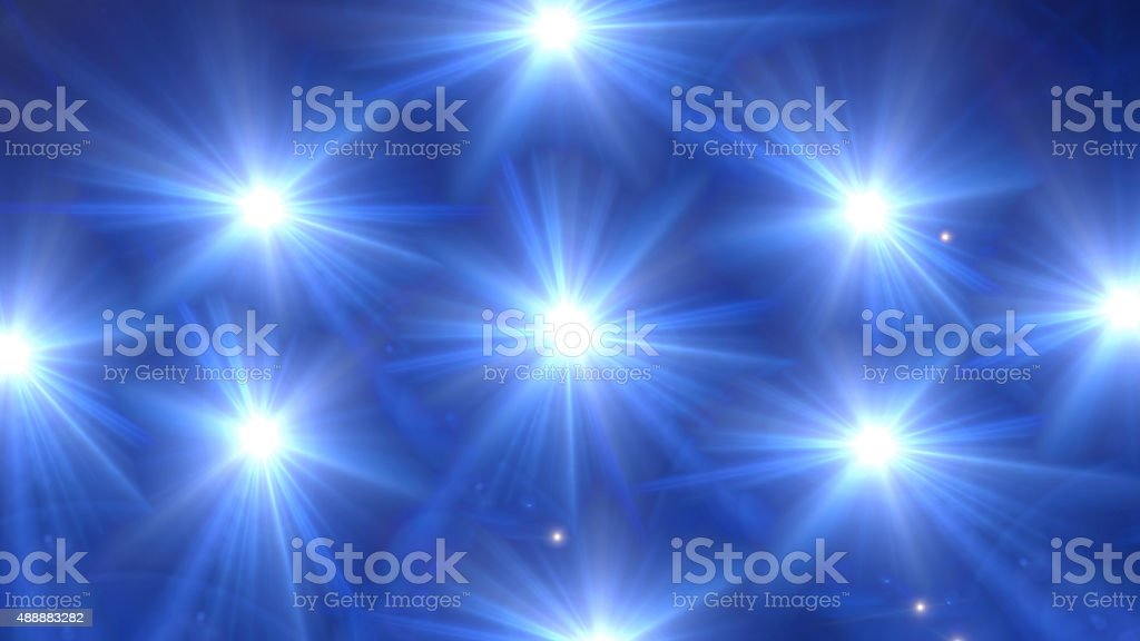 star glow blue pattern stock photo