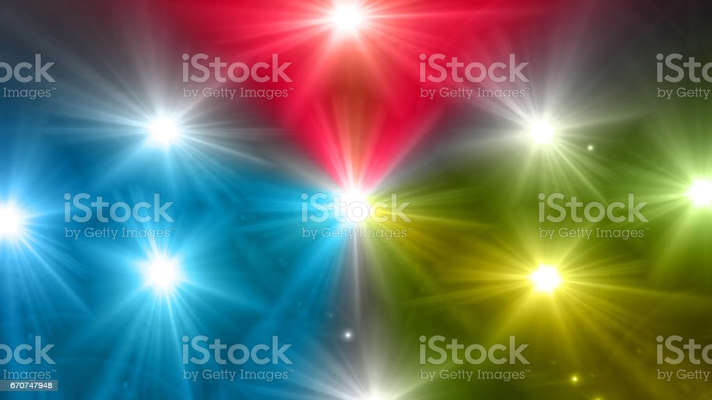 star glow blue red yellow color stock photo