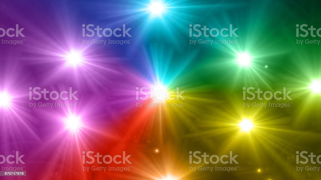star glow rainbow stock photo