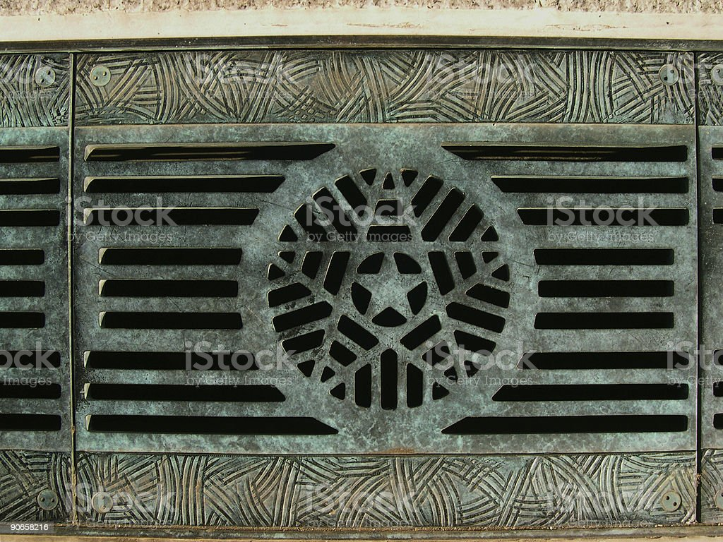 Star grate royalty-free stock photo