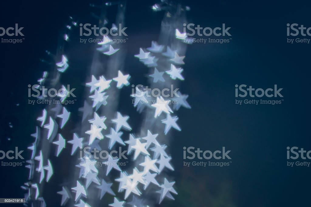Star in the dark stock photo