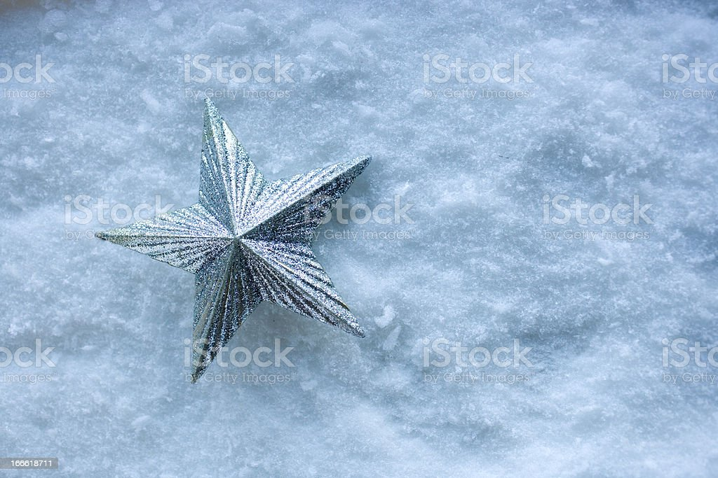 Star in the Snow royalty-free stock photo