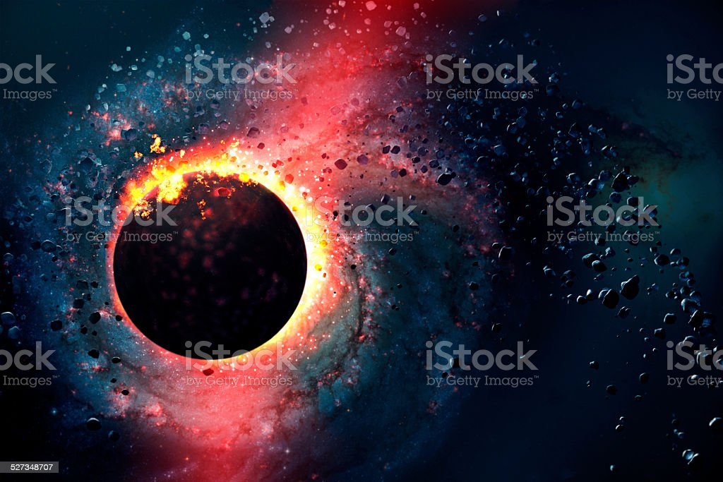 Star is born, universe, big bang, explosion, comet stock photo