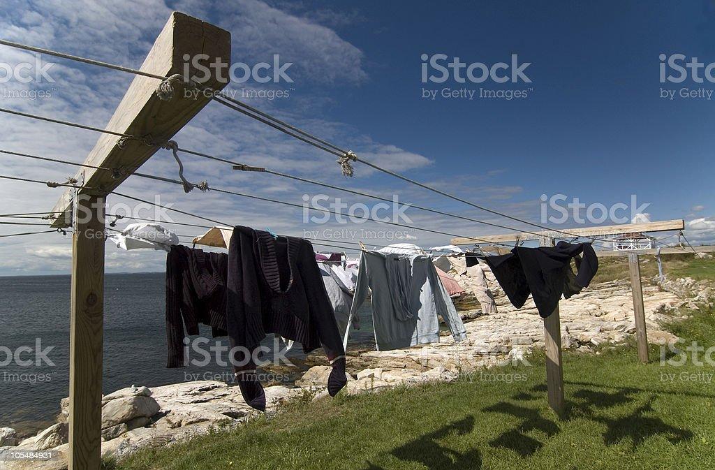 Star Island Clothesline stock photo