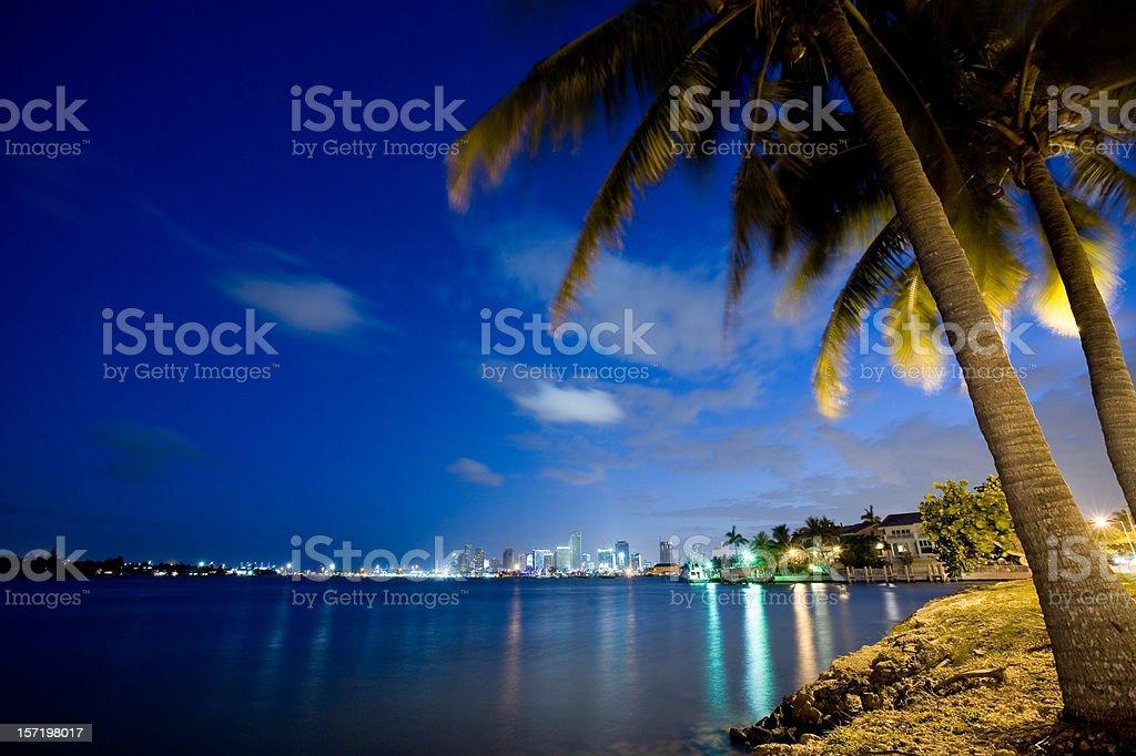 Star Island Miami Beach stock photo