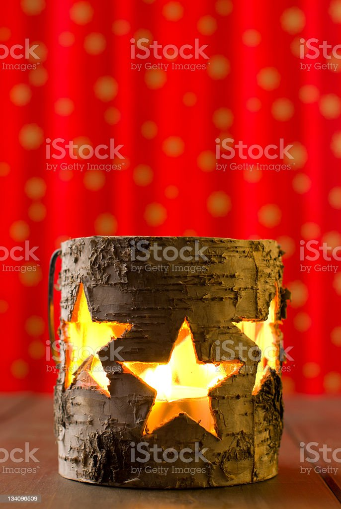 Star jar candle holder royalty-free stock photo