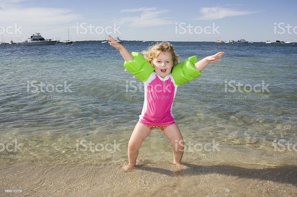 Star Jump Girl stock photo
