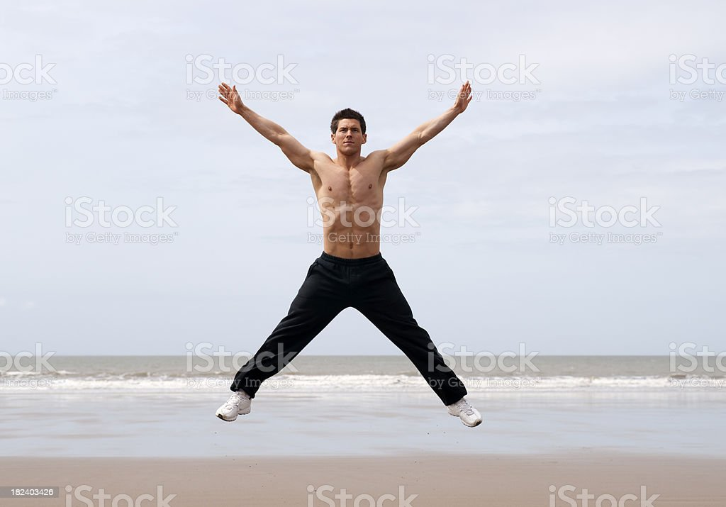star jump stock photo