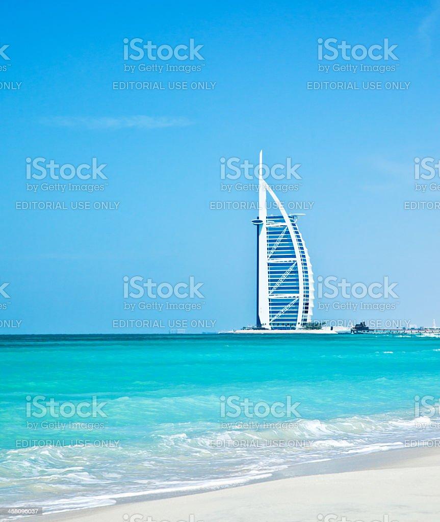 7 star luxury hotel on Dubai beach stock photo