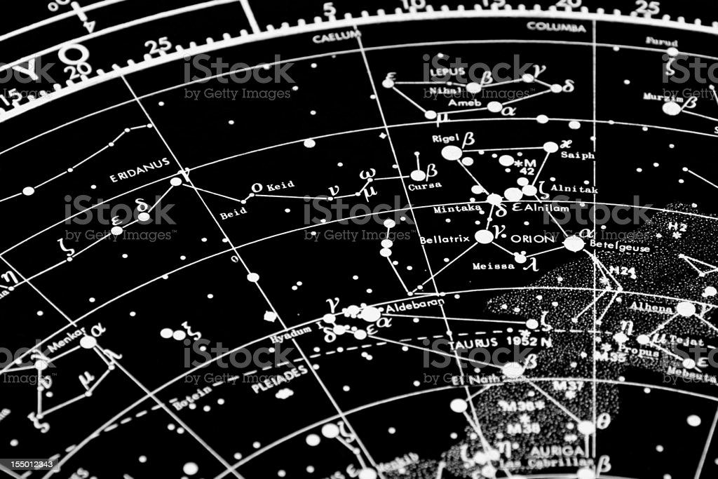 star map stock photo
