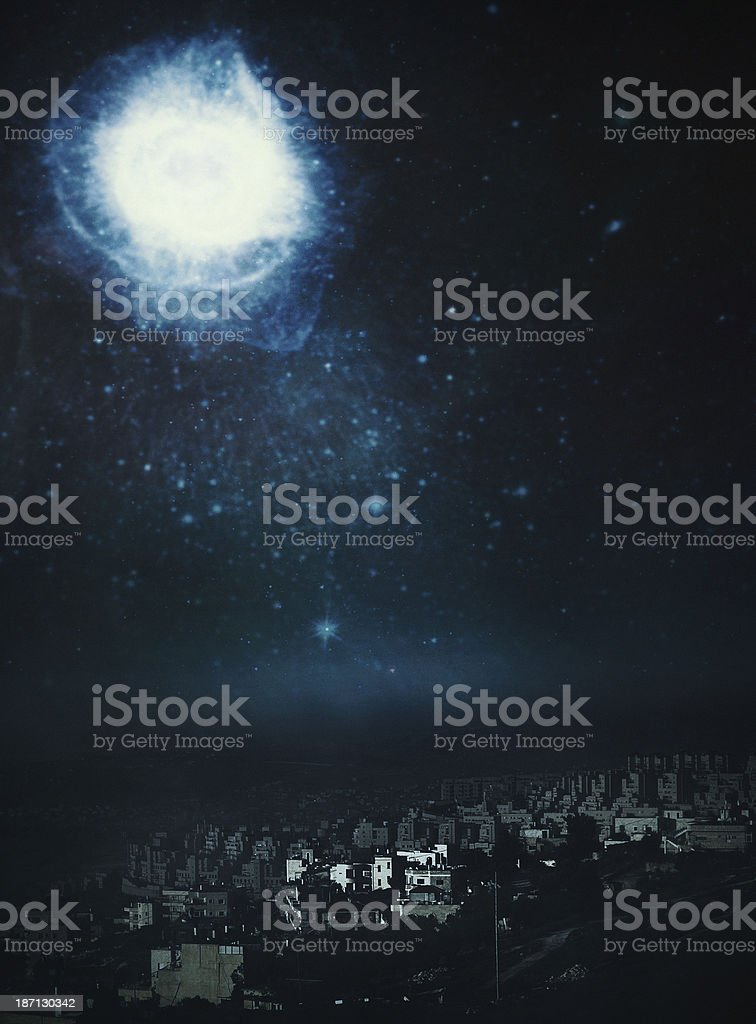 Star of Bethlehem Night Sky stock photo