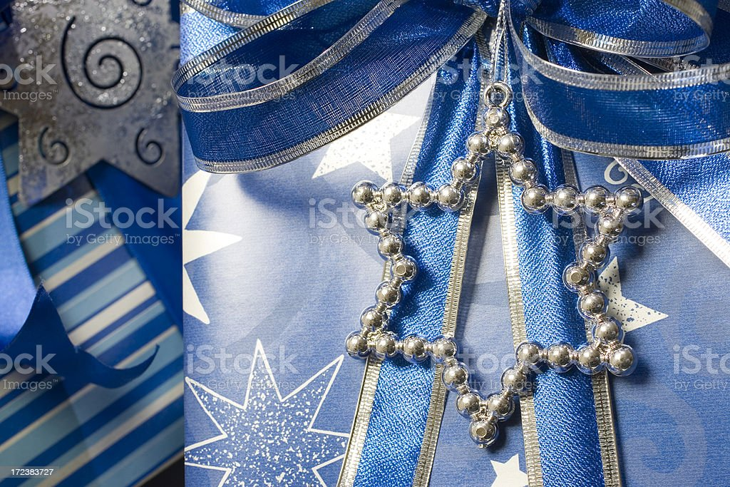 Star of David on a gift royalty-free stock photo