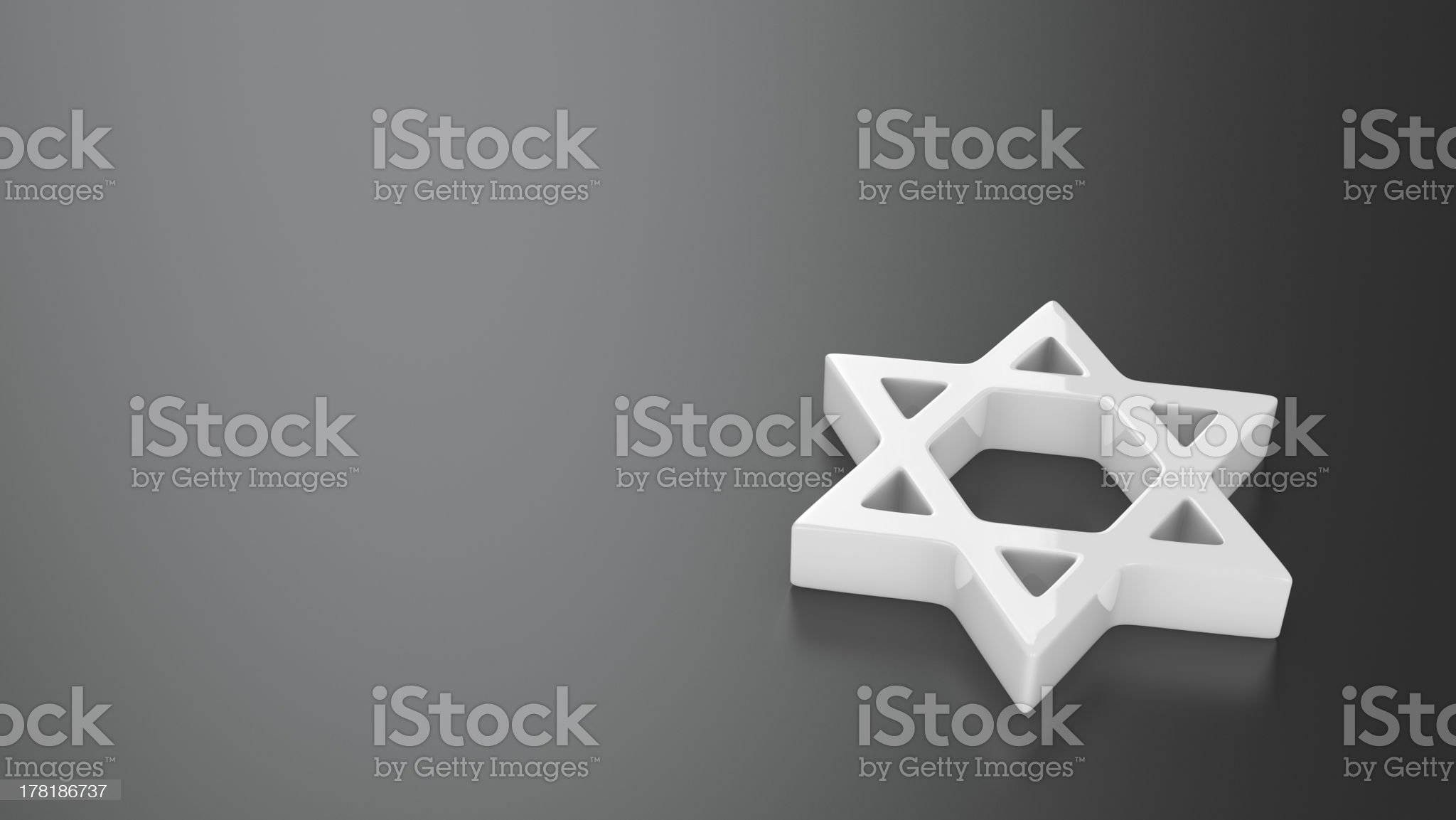 Star of David on the grey royalty-free stock photo