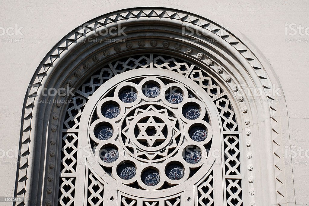 Star of David stock photo