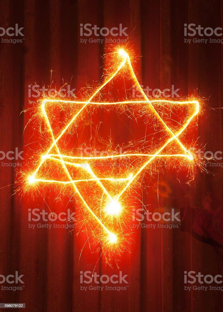 Star of David stock photo