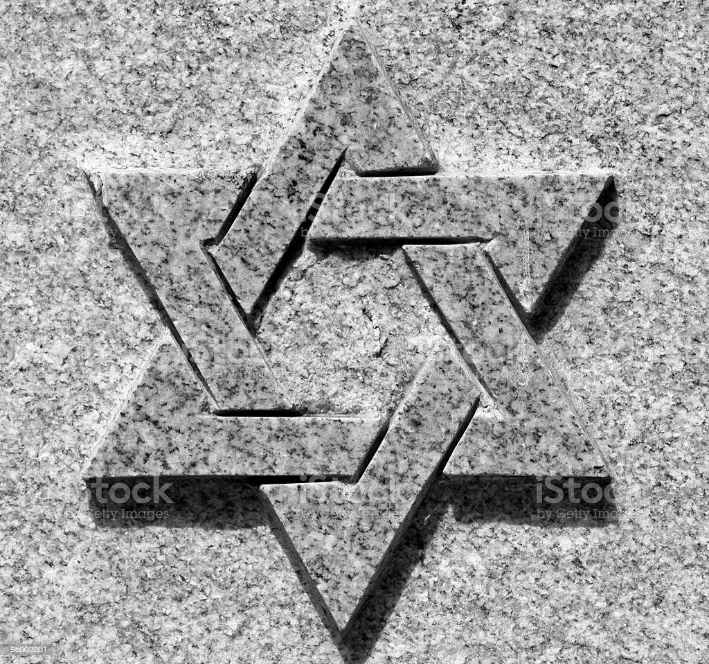 Star of David royalty-free stock photo
