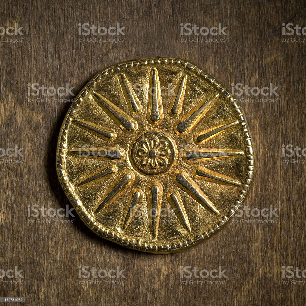 Star of Vergina, copy stock photo