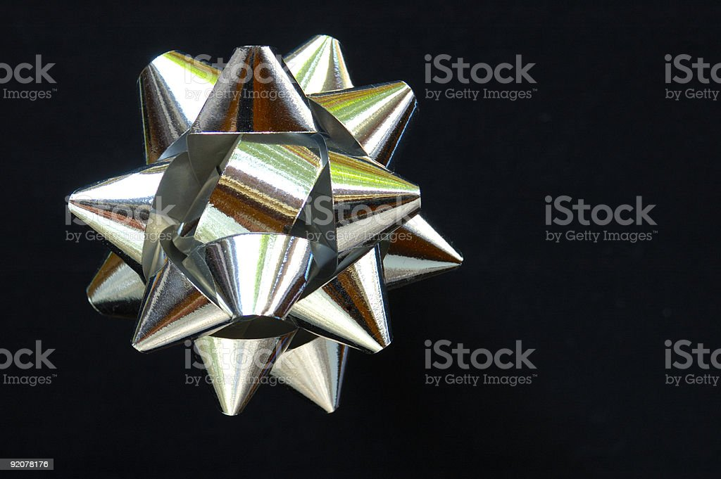 Star on black royalty-free stock photo