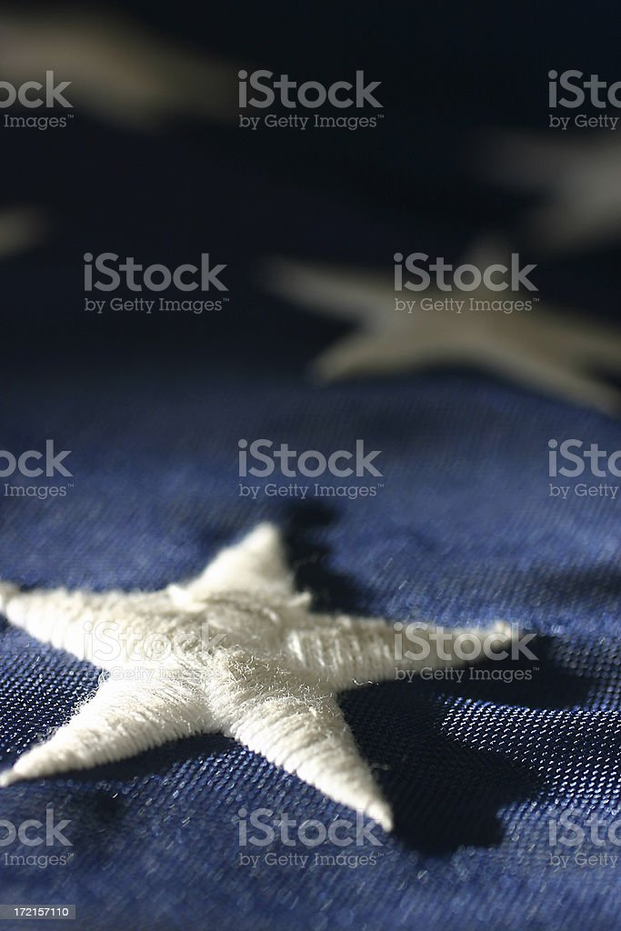 star on flag royalty-free stock photo
