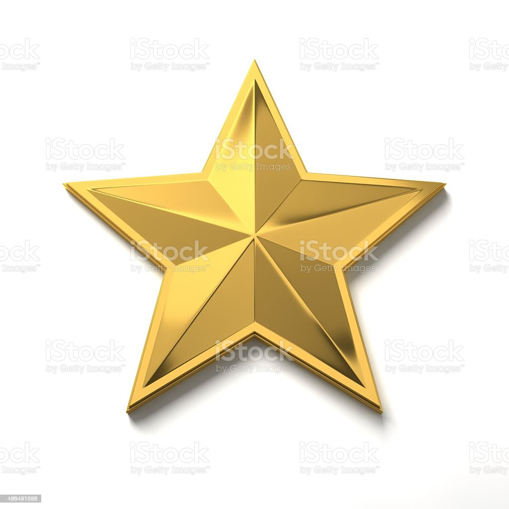 Star on the smart phone. stock photo