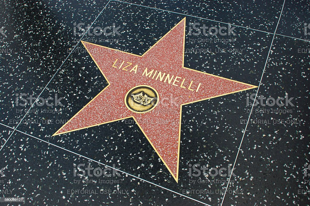 Star on Walk of Fame stock photo