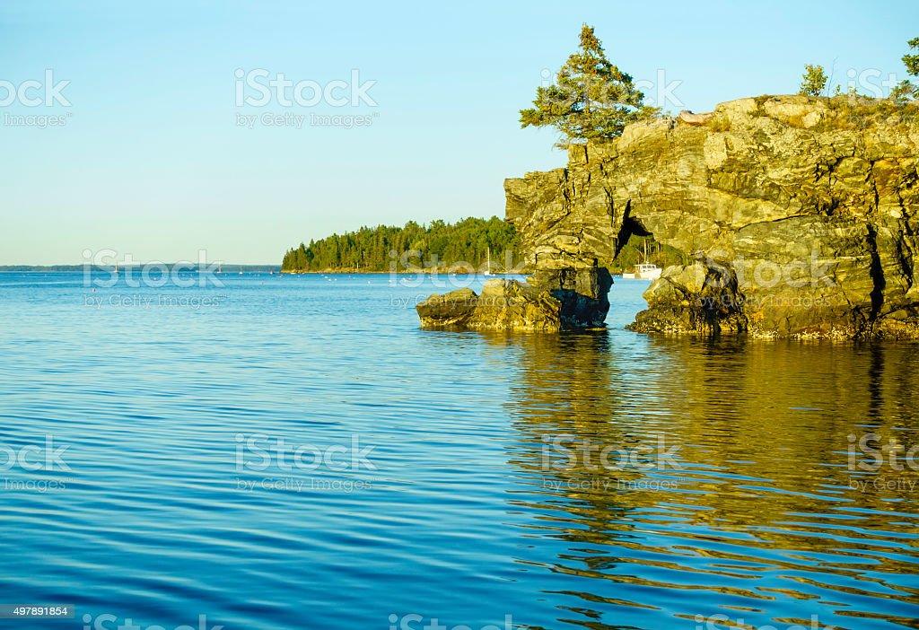 Star Point on Mount Desert Island, Maine, USA stock photo