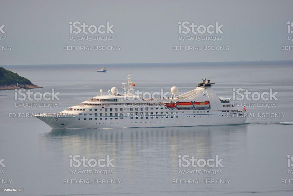 Star Pride cruise ship in Adriatic sea. stock photo