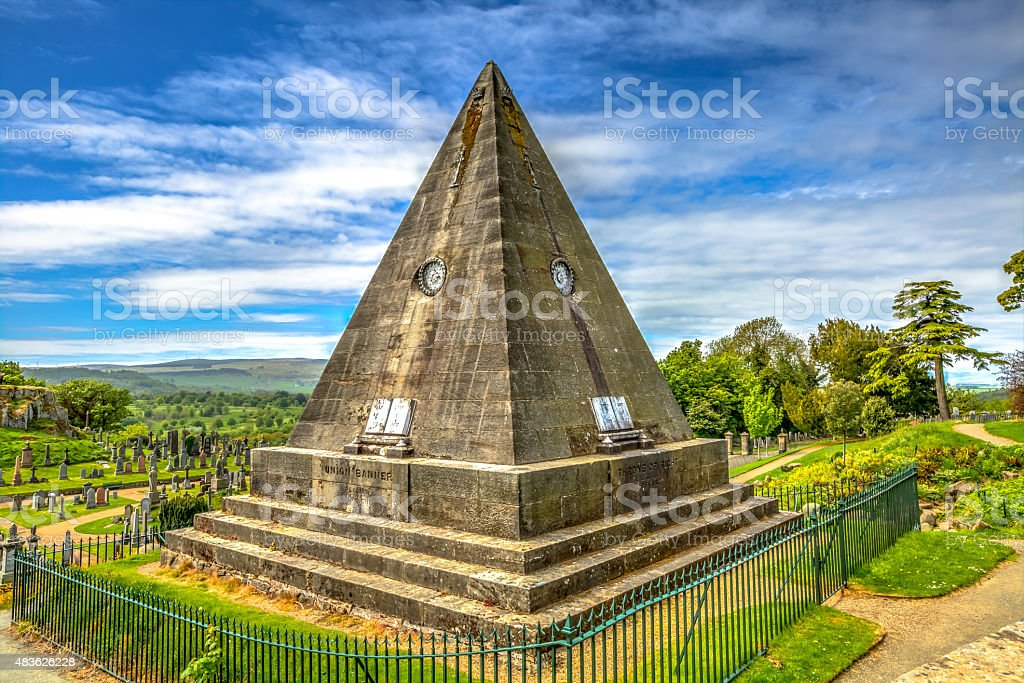 Star Pyramid Stirling stock photo