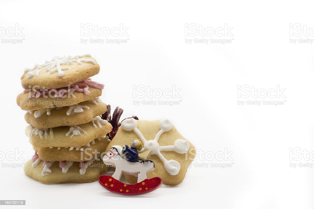 Star shape chrismtas gingerbread .isolated in white background royalty-free stock photo