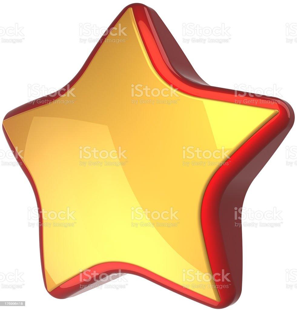 Star shape golden award success icon concept royalty-free stock photo