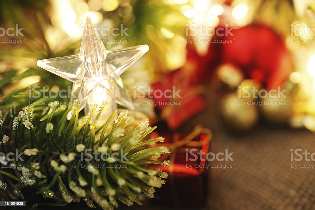 Star shaped christmas light royalty-free stock photo
