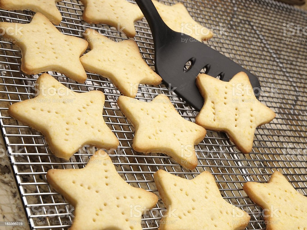 Star Shaped Cookies royalty-free stock photo
