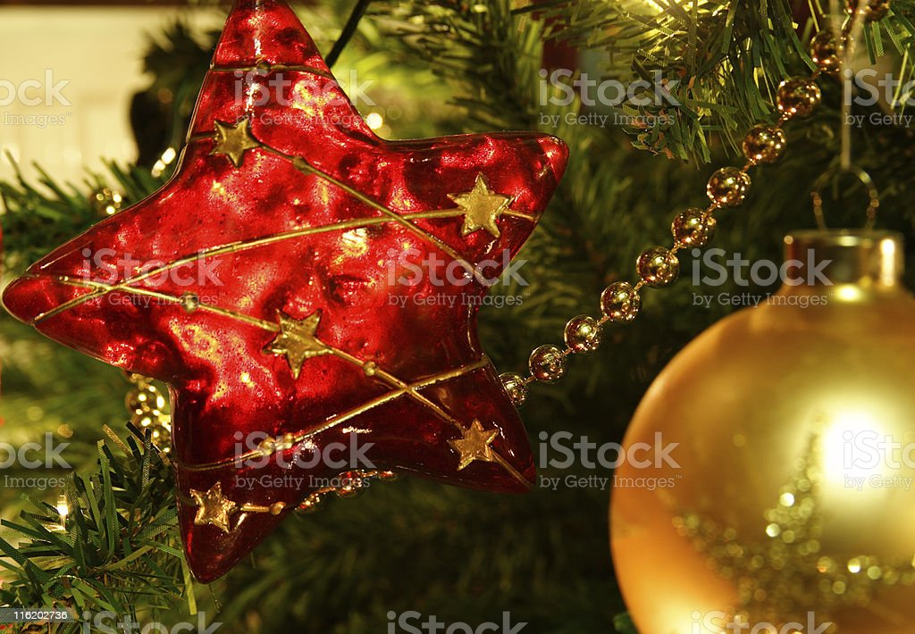 Star Shaped Decoration stock photo