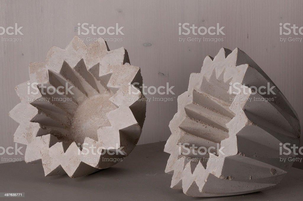 star shaped flower pots, upset royalty-free stock photo