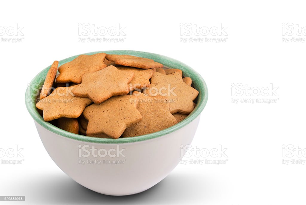 Star shaped gingerbread stock photo