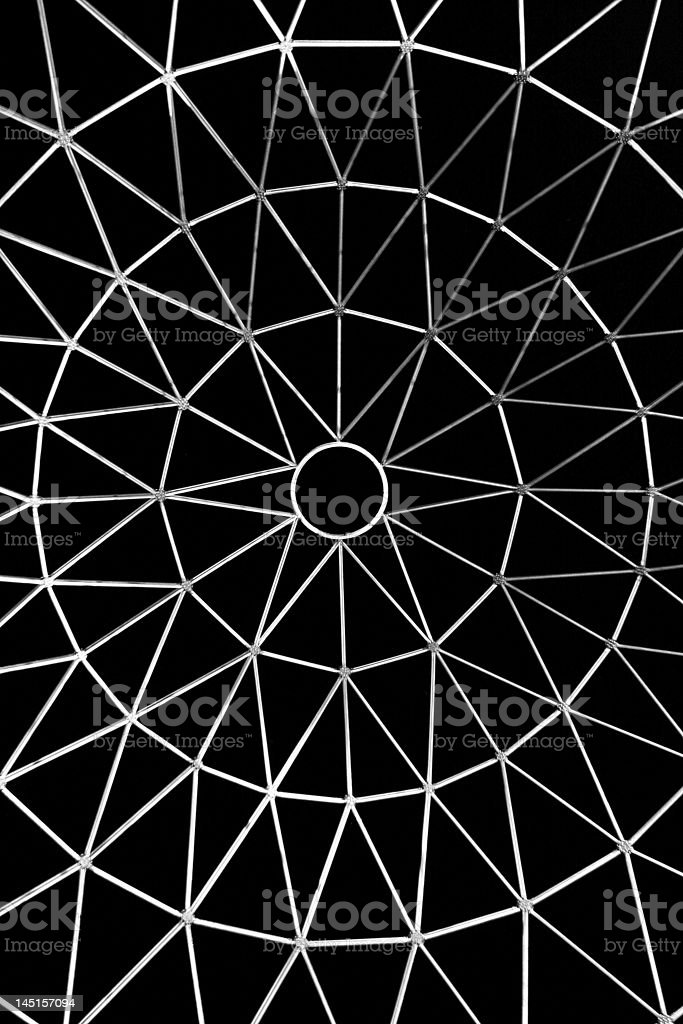 star shaped metallic network royalty-free stock photo