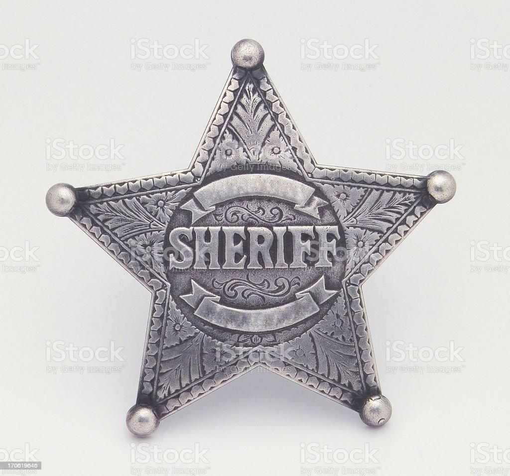 Star Shaped Sheriffs Badge, Badge, Star, Pin, Law stock photo