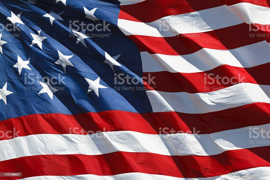 Star Spangled Banner (1812), American Flag royalty-free stock photo