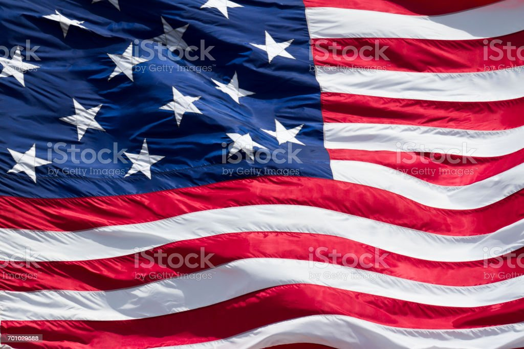 Star Spangled Banner (War of 1812), American Flag stock photo