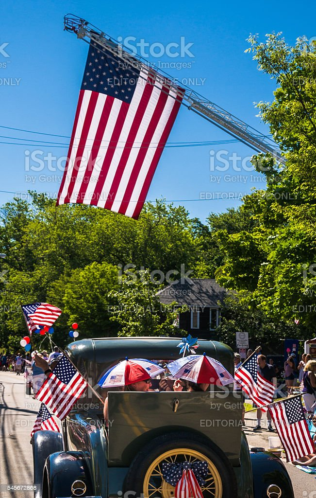Star Spangled Banners stock photo