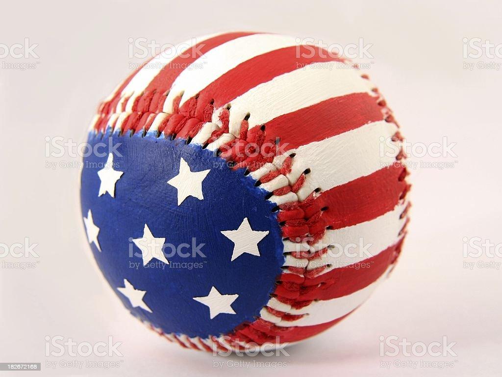 Star Spangled Baseball stock photo