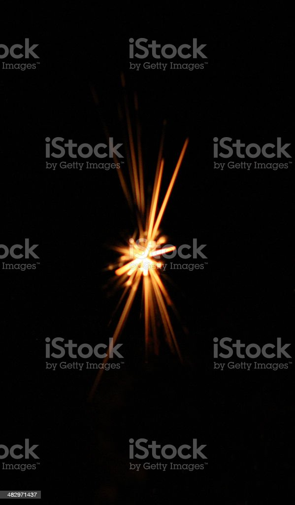 star spark stock photo