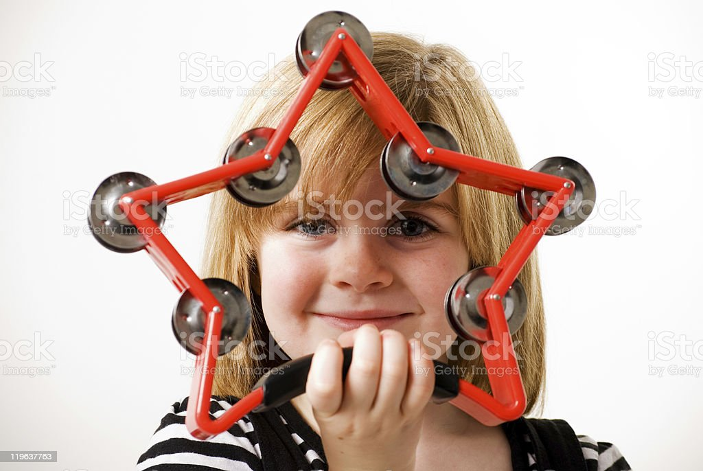 star tambourine royalty-free stock photo